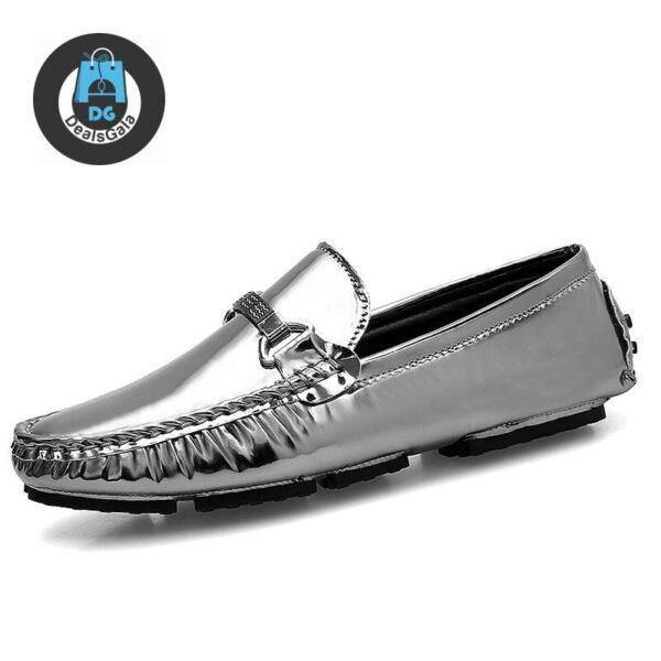 Men Moccasins Shoes cb5feb1b7314637725a2e7: Black|Blue|silver