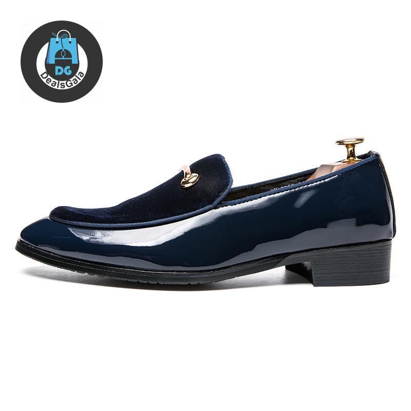 Men England Style Shoes cb5feb1b7314637725a2e7: Black Blue leather